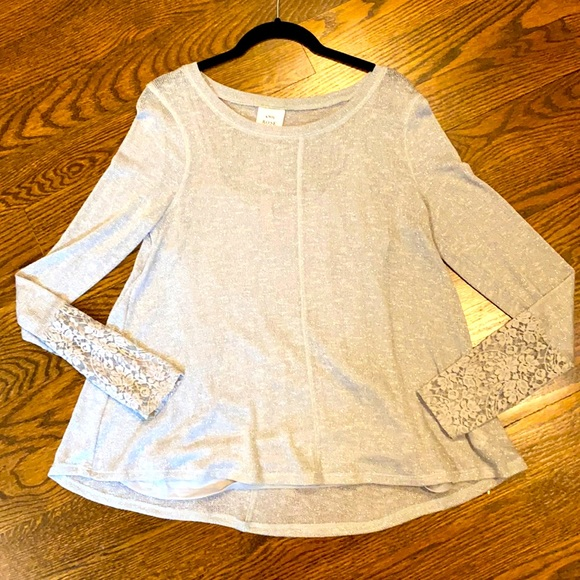 Lace Sleeves Sweater